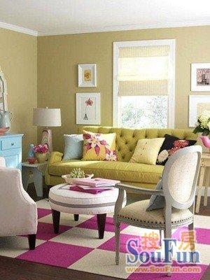 多一点色彩 6种方案让客厅鲜活起来