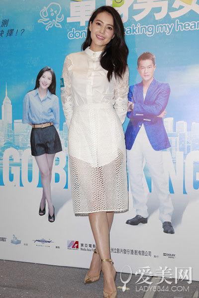 高圆圆白色婚纱照浪漫 回顾白色装扮显气质