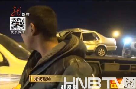 """哈市香坊翻斗與轎車相撞 男子冒充""""交警""""毆打採訪記者"""