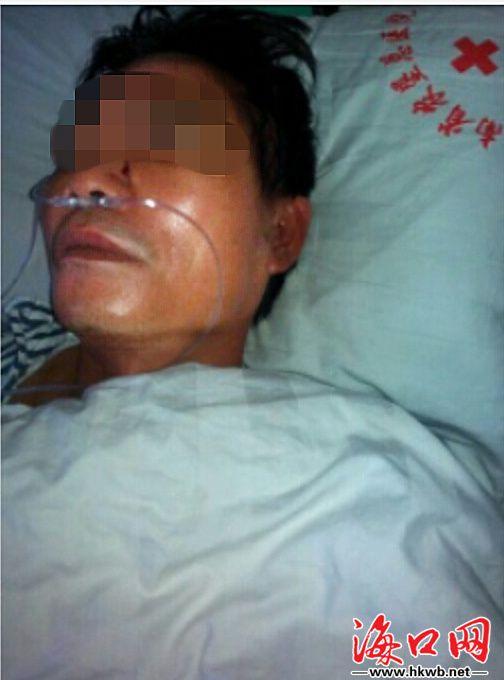 澄迈男子劝架遭10多人围殴 家属盼抓施暴者