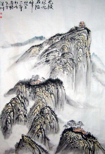 实意并重的中国山水画名家 袁飞先生书画作品鉴赏图片