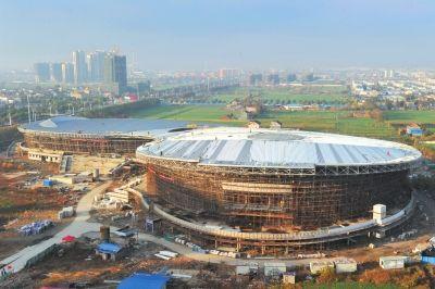 海安体育中心系苏中县市一流水平 明年使用