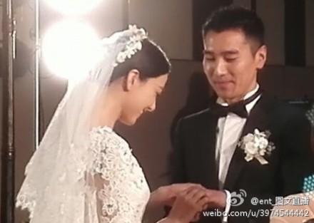 高圆圆赵又廷大婚 夫妻接吻抛绣球高清照曝光