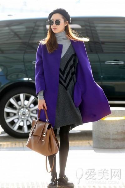 廓形大衣显瘦无敌 韩国女星都爱它