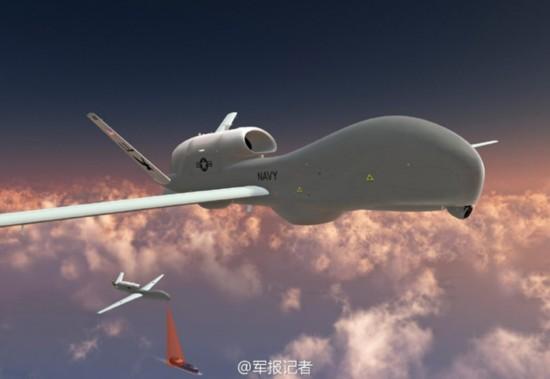 """组图:美军拟在日本部署""""人鱼海神""""无人机"""