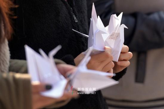 """12月9日,南京农业大学数千名师生在卫岗校区举行""""千人共制公祭菊"""