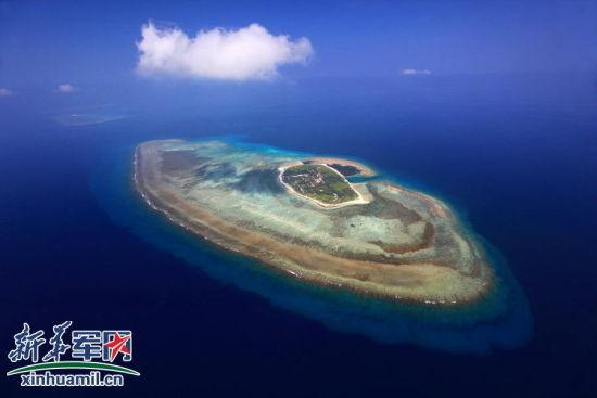 海军官兵驻守的西沙珊瑚岛。 新华社记者查春明 摄
