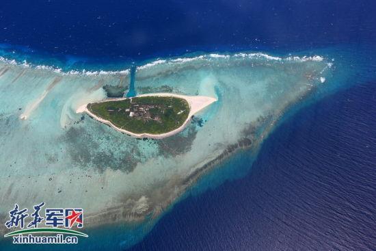 西沙群岛金银岛,海军常年驻守在岛上。 新华社记者查春明 摄