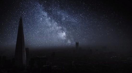 无光污染的伦敦夜空 星光闪耀
