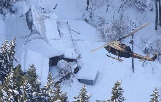 自卫队直升机在德岛县展开救援(网页截图)