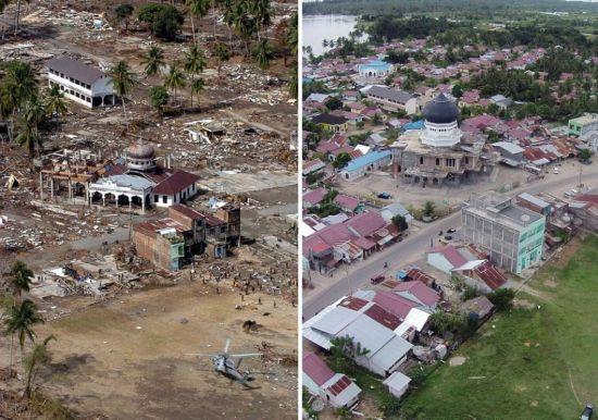 废墟上的重生 实拍印尼大海啸十年巨变