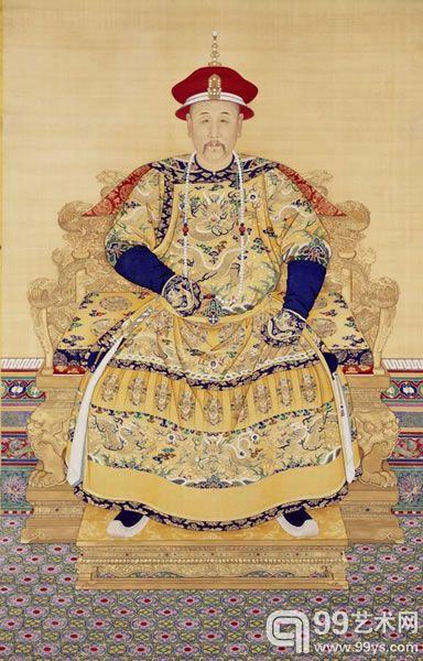 清无款雍正朝服像 北京故宫博物院藏