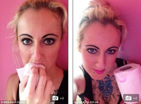 英女子孕期爱吃厕纸一天一卷难自控