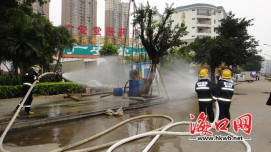 海口20多个小区供气中断因施工钻漏燃气管道