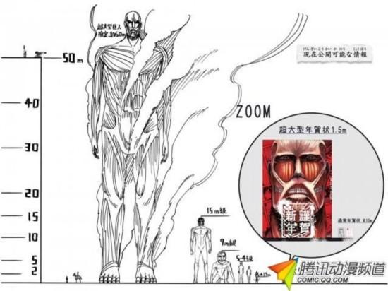 巨人漫画《推出的网格》进击1.5米超大型人气图漫画贺卡图片