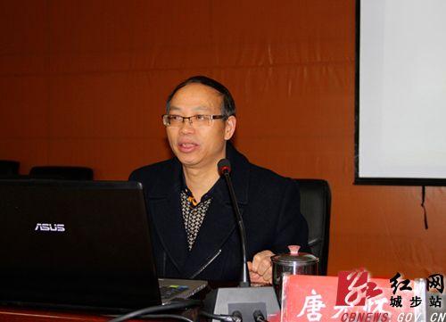 专题宣讲.黄艳萍 摄-城步县委中心组集中学习党的十八届四中全会图片