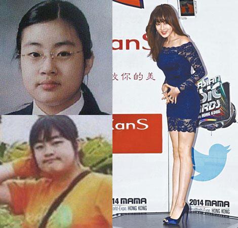 韩星姜素拉走红前旧照曝光体重曾达72公斤(图)