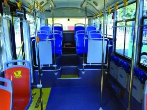 车厢内部设置-苏州投运40辆微型公交车 油耗更低灵活性更强高清图片