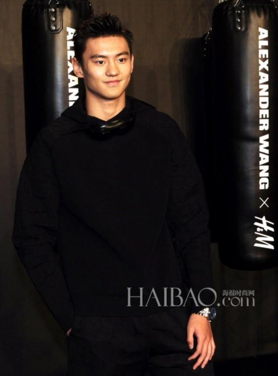 宁泽涛亮相Alexander Wang × H&M中国发布派对