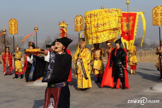 """高清组图:西安大明宫再现唐代""""冬至祭天礼"""""""