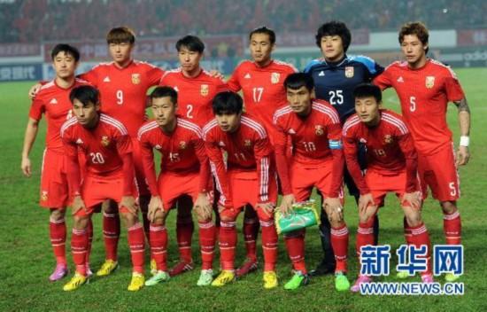 (体育)(8)足球——友谊赛:中国队战平巴勒斯坦队