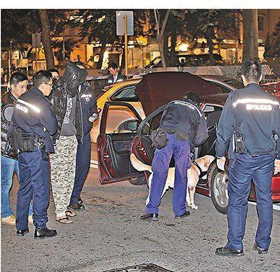 香港男子非法赛车狂飙40公里后被捕