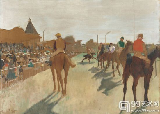 德加《看台前的赛马》1866-8