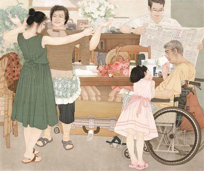 儿女情长(中国画・金奖)
