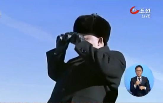 朝鲜播出金正恩登顶白头山画面(视频截图)