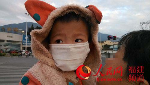 被感染了艾滋的5岁毛毛。詹托荣摄