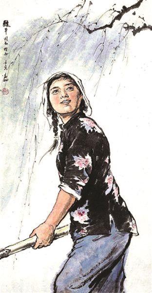 蒋兆和 1962年作 《春耕图》