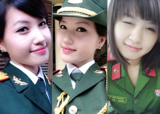 越南女兵都是萌妹子