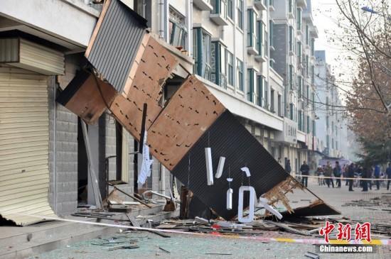 山西永济居民区发生疑似天然气爆炸致6人受伤(组图)