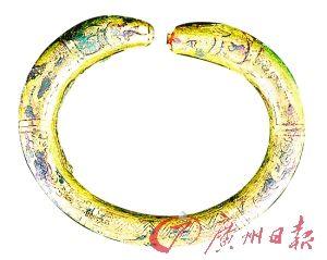 鎏金虬龙纹环。