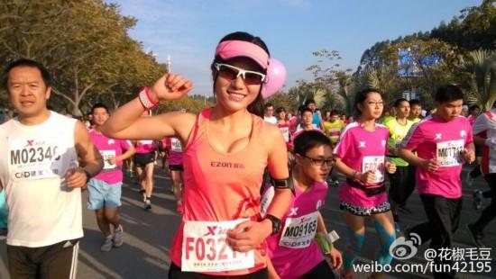 最美马拉松女孩再参赛 网友:秒杀范冰冰