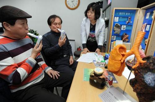 韩国香烟上调售价戒烟诊所生意火爆(组图)