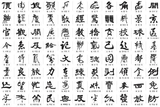 中日韩共同选定常用汉字