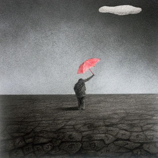 《涸》25-25cm-纸本素描-2012