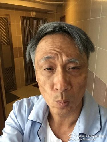 """吴镇宇为新片""""毁容""""满头白发两眼无神(图)"""