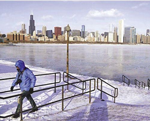 """美国遭遇""""最冷北极寒流""""局地气温降至零下40度"""