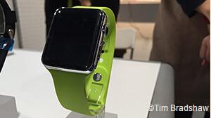 中国厂商在CES上展示的一部智能手表(图片来自外媒)