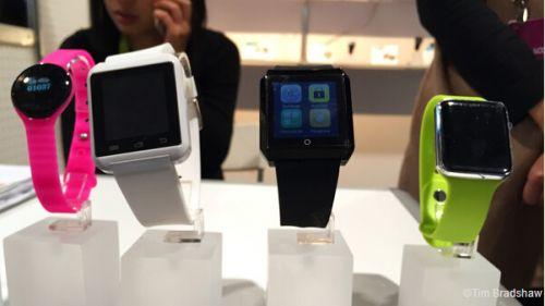 中国厂商在CES上展示的智能手表(图片来自外媒)