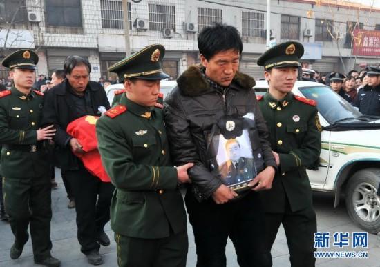 (社会)(1)哈尔滨大火牺牲烈士张晓凯魂归故里