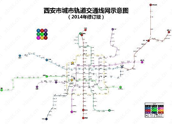 点击图片看高清组图:西安地铁线路规划图2014版(图片来源:荣耀西图片