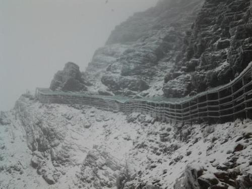 台湾新年第一场雪玉山积雪达4.5厘米(图)