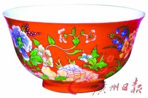 清康熙 珐琅彩花卉小碗 (故宫博物院藏)