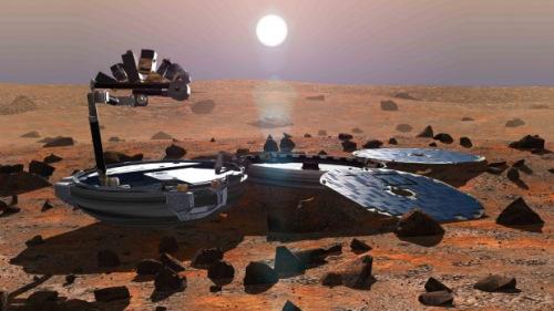 """失踪十余年英国火星着陆器""""猎兔犬""""号重现(图)"""