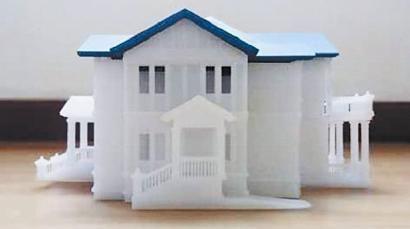 ③3D打印的别墅模型。