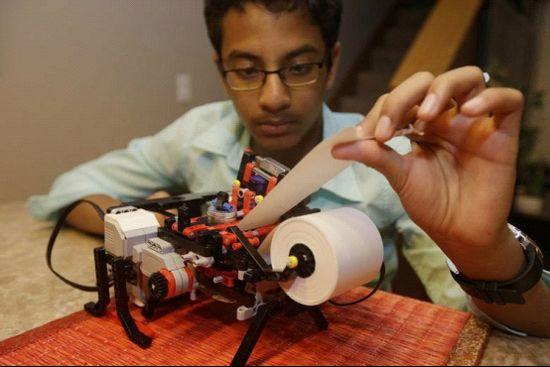 13岁少年研发盲文打印机 已获英特尔投资
