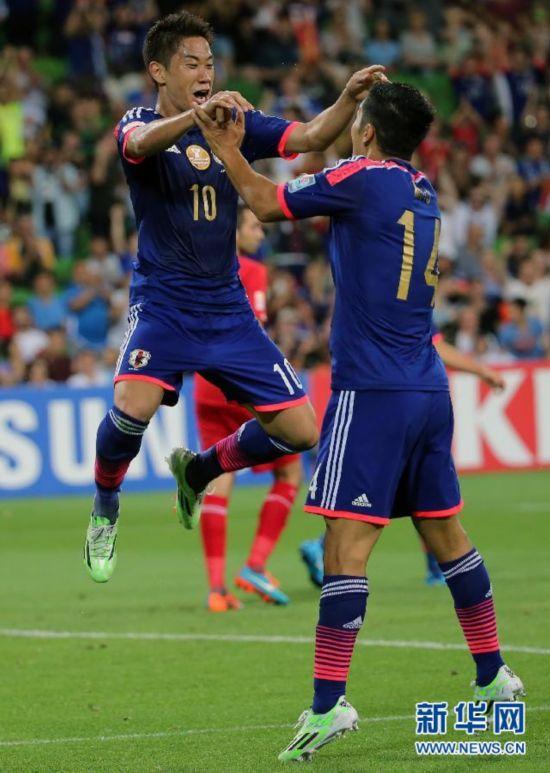 (亚洲杯)(1)足球――小组赛:日本队胜约旦